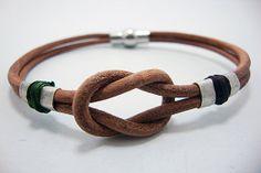 FREE SHIPPING   Men's Leather bracelet. Light Brown by DenizKumu, $20.00