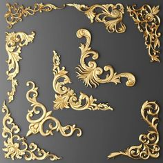 Stucco molding 10 model, decorative plaster model is Art, Textures low-poly model ready for VR, accurately design for perfect visualization Baroque Decor, Baroque Design, Decorative Plaster, 3d Modelle, Wood Carving Designs, Modelos 3d, Wall Molding, Moldings, Motif Floral
