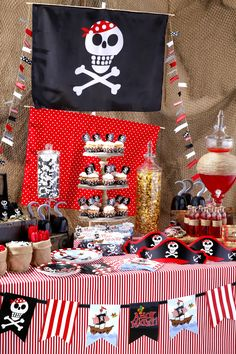 Yo Ho Me heatries X marks the spot.  Create this memorable party for your little pirates.