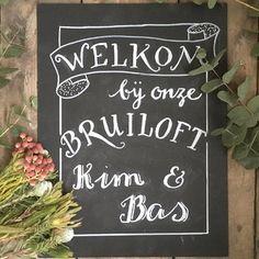 Welkomstbord voor een bruiloft