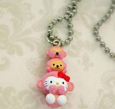 Hello-Kitty-Three-Wise-Monkeys-Earrings-Necklace-Dust-Cover