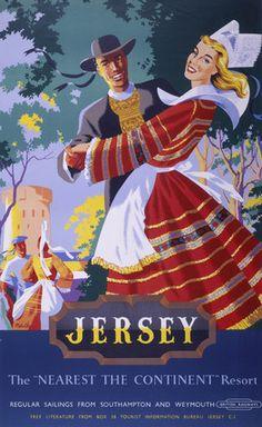 ISLANDS - Jersey, Channel Islands - BR poster, 1952.