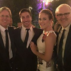 Producers Michael Landon Jr & Brian Bird with Daniel Lissing and Erin Krakow