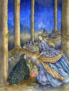 The Twelve Dancing Princesses by *Himmapaan  Love fairy tale illustrations of this quality! =)