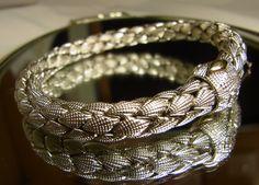 """""""Chimento"""" - Armband von #Chimento aus 750 Weißgold - 20 cm - Durchmesser ca. 7,31 mm"""