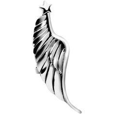 925 Silver Star Topped Angel Wing Ear Cuff | Body Candy Body Jewelry #bodycandy #bodyjewelry $15.99