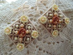 Victorian Cameo Style Needlepoint Beaded by BunniesMadeOfBread, $8.00