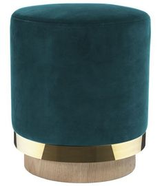 Velvet and Oak Stool Red Edition Adult- A large selection of Design on Smallable, the Family Concept Store - More than 600 brands. Home Design, My Furniture, Furniture Design, Pouf Bleu, Ottoman Bench, Peacock Blue, Messing, Floor Mats, Velvet
