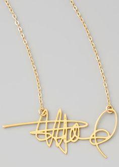 Custom signature necklace - turn your signature into a statement piece!