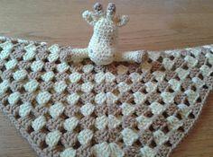Giraffe Lovey Security Blanket for Baby - crochet pattern on Ravelry