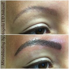 Microblading Eyebrows by Angela at Upper Darby Inkwell, Drexel Hill, PA. www.permanentcosmeticsbyangela.com