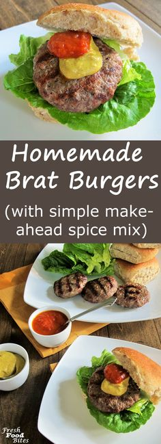 Love brats, but want a healthier version you can pronounce all the ingredients for? Try these Homemade Brat Burgers. Brats Recipes, Burger Recipes, Burger Ideas, Sausage Recipes, Homemade Brat Recipe, Brat Burger Recipe, Burger Fresh, Healthy Toddler Meals, Toddler Food