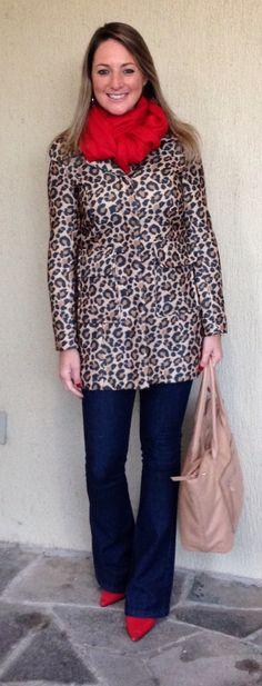 1467511e6230 Look de inverno - look de frio - look do dia - moda corporativa- look de  trabalho - work outfit - fall - winter - casaco animal print - coach -  calça flare ...