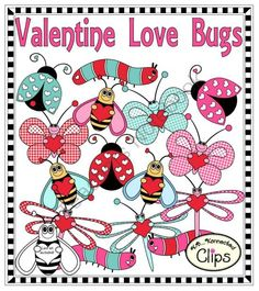 Valentine Love Bugs from KB Konnected Clips on TeachersNotebook.com -  (21 pages)  - Valentine Love Bugs!