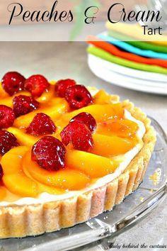 Peaches & cream tart
