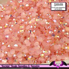 5mm 200 pcs AB Jelly PINK RHINESTONES Flatback / Decoden Crystal Phone Deco
