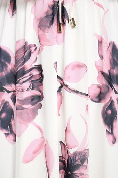 We can go on and on about how much we adore the Infinite Love Ivory Floral Print Off-the-Shoulder Maxi Dress! Stunning ivory chiffon (with a blush and midnight blue floral print) falls from an elasticized, off-the-shoulder neckline, to a tying accent and elastic waist. Skirt stuns as it falls to a maxi length.