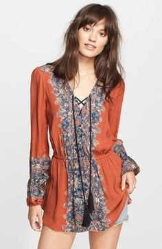 Free People Wildest Moment Print Tunic ...