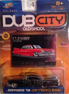 Jada, Dub City, Old Skool, 1959 Cadillac El Dorado, 1:64 diecast 1959 Cadillac, Jada Toys, Small Cars, Big Kids, Hot Wheels, Diecast, Ford, City, Vehicles