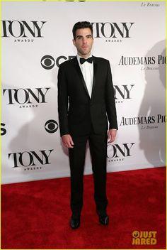 Celeb Diary: Zachary Quinto @ 2013 Tony Awards