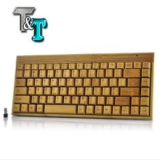 Tastiera wireless in bambú - Handcrafted Wireless Bamboo Keyboard