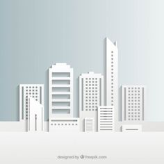 White city buildings I Free Vector