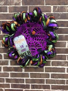 A personal favorite from my Etsy shop https://www.etsy.com/listing/461607596/welcome-to-my-web-halloween-wreath