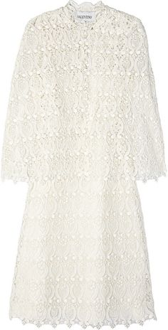 VALENTINO   Lace Cape Dress - Lyst