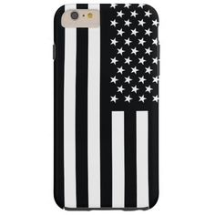 American Flag Black & White iPhone 6 Plus Case. You Rock America!