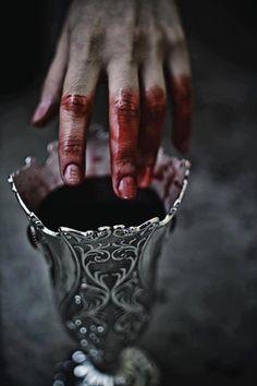 Pewter goblet of blood
