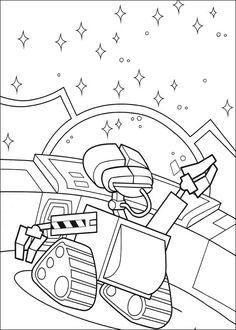 Fargelegging Wall-E. Tegninger 19