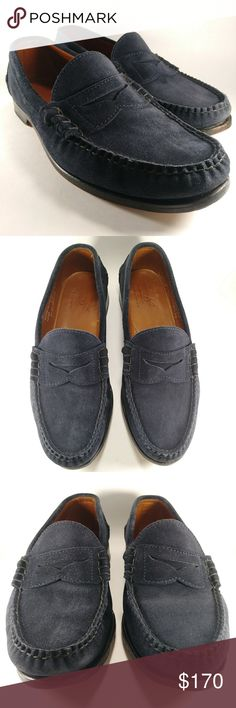 bd33814a2b Rancourt Blue Suede Beefroll Penny Loafer 10.5D Rancourt   Co Club Monaco  (collab)