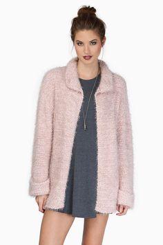 Blush Keep Me Warm Cardigan Coat at $25 (was $64)