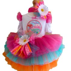 8734e678c Candyland Custom Made Birthday Tutu Set in Yummy Custom Candy Colors by  Southern Wrag Company.