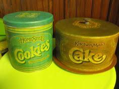 Metal Cookie Canister & Cake Saver 1980's from Zayre's ... I still have mine & use them!!!