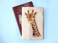 Giraffe passport cover  travel gift  animal travel wallet Pose For The Camera, Giraffe Print, Passport Cover, Wash Bags, Travel Gifts, Gift For Lover, Printing On Fabric, How To Draw Hands, Wallet