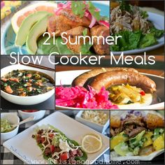21 Summer Slow Cooker Meals | This is so good...