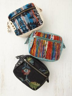 Free People Printed Cosmetic Case, $28.00