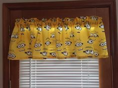 """Minion Eyes Valance ~ Bright Color ~ 58"""" wide by CheriesSewCrafty on Etsy"""