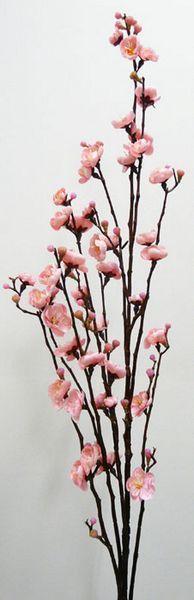 New Artificial Fake Silk Flower Plum Blossom 115cm Pink