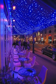 Illumination in Cafe Le Marais, Paris...
