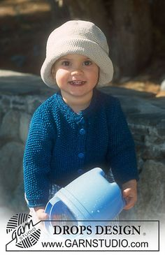Ravelry: b10-5 Jacket in moss st and hat in Muskat pattern by DROPS design. FREE