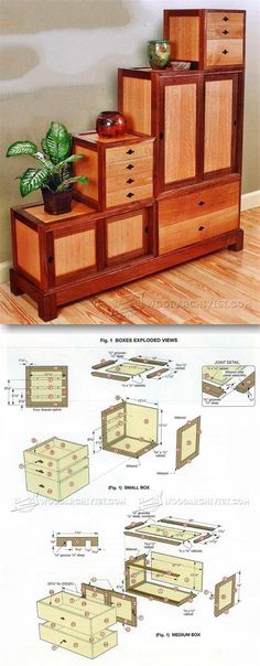 Step Tansu Plans - Furniture Plans and Projects  | http://WoodArchivist.com
