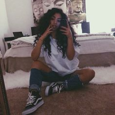 How To Wear Leggings With Vans Shirts Super Ideas Source by outfits Tomboy Fashion, Tomboy Outfits, Dope Outfits, Fashion Killa, Look Fashion, Trendy Outfits, Fashion Outfits, Hipster School Outfits, Soft Grunge Outfits