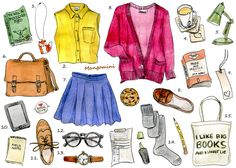 How to Get Cute Bookworm Style (by Cindy Mangomini); ok, then maybe I just want Oxfords and loafers so bad.