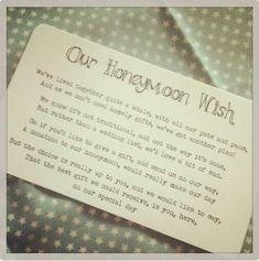 No Gifts - Honeymoon Wish