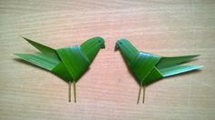 ALBERT DRAWING AND IMAGES: coconut leaf art bird