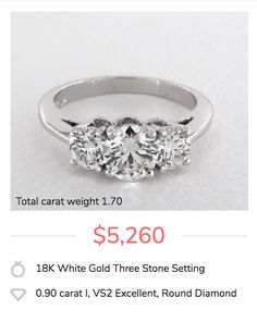 A 3-stone engagement