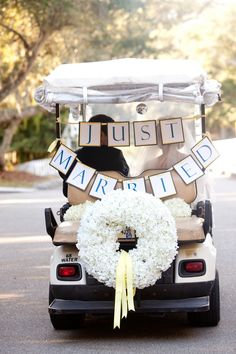 Just Married Golf Cart