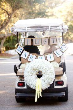 Just Married Golf Cart